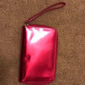 Victoria's Secret Clutch Wristlet Shiny Hot Pink